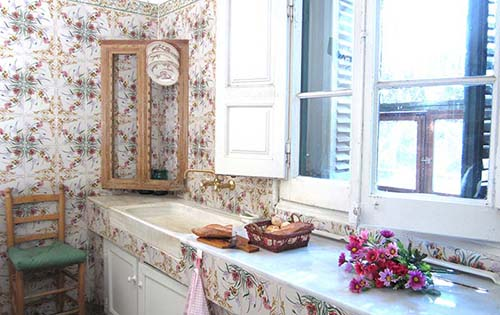Kitchen in Villa Maria, rural house in Montseny, Barcelona